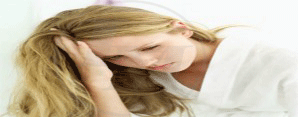 Image of woman with migraine