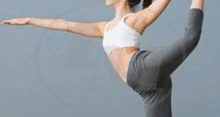 Image of woman stretching